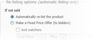 Easy product listing
